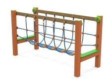 ponte corde giochi per parchi, attrezzature per parchi gioco, strutture ludiche Stileurbano Ciuffo Baobab certificati Norma EN1176 CATAS stileurbano oratorio FOM odielle abbiategrasso