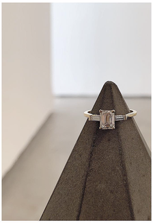 PASiNGA Concrete Diamond Displaying A Ring By Yama Fine Jewellery