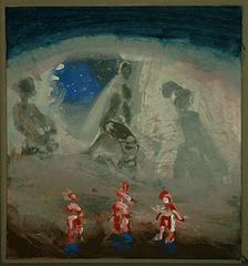 Die großen Schatten - Acryl-Leinwand, 2000 (50x45)