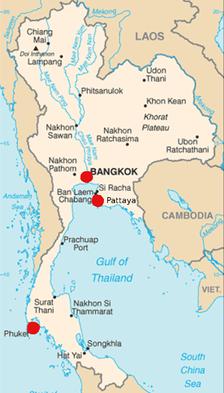 Pattaya, Bangkok und Phuket, die Ziele der ersten vier Thailand-Reisen