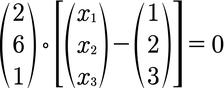 Beispiel für die Normalenform einer Ebene