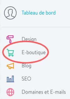 Paramétrer une e-boutique Jimdo