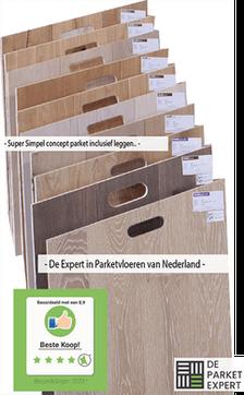 Collectie visgraat houten vloeren
