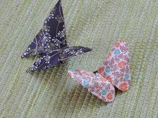 Foto Origamischmetterlinge