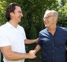 Andreas Tietz vom Lions Club und Reinhold Beckmann
