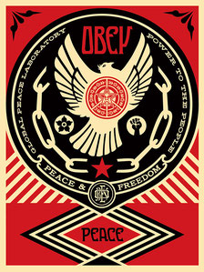 Shepard Fairey Peace and Freedom Dove