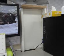 タモ集成材・白ポリの自作オフィス家具