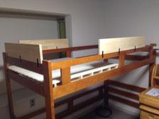 メルクシパイン集成材のベッド改良用板