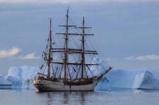 Antarktis, Bark Europa, Segelschiffreise, Kreuzfahrt, Eisberge, Gletscher, Antarktische Halbinsel