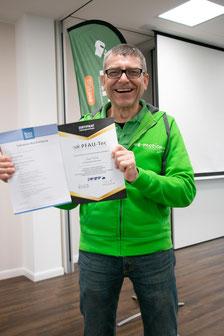 Josef ist jetzt als Medizinprodukteberater zertifiziert