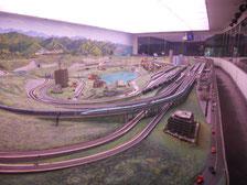 大変人気のあった模型列車運転パノラマ