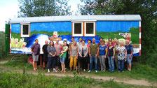 LBV-Mitarbeiter und ehrenamtlich Aktive bei der Einweihung des Naturerlebnis-Labors