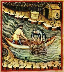 Flussfischer im  15. Jh.