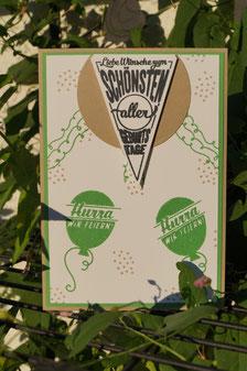 """Geburtstagskarte mit dem Stempelset """"Süße Stückchen"""" - Patricia Stich 2015"""