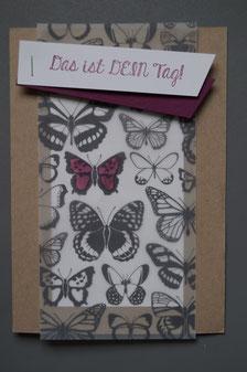 Geburtstagskarte mit Designerpergament (SAB) - Patricia Stich 2015