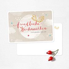 Postkarte friedliche weihnachten