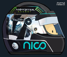 Helmet of Nico Rosberg by Muneta & Cerracín