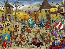 Middle Age Wimmelbild Puzzle