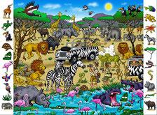 Safari Puzzle Wimmelbild
