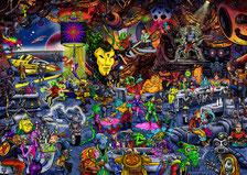 Space Bar Wimmelbild Puzzle