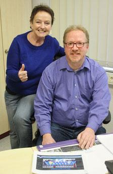 Vorsitzende Birgitt Faßhauer und Stephan Lanzke. Foto: Faßhauer