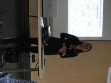 Erste Stadträtin Christine Bender bei der Versammlung der Eigentümer am 1. Oktober Vorstellung des Projekts