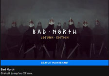 Bad North gratuit Epic Games Store