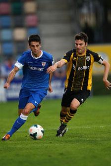 El Barakaldo se enfrentó al Athletic el pasado miércoles en Lasesarre. Foto: www.athletic-club.net
