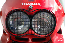 Headlight protector steel grille
