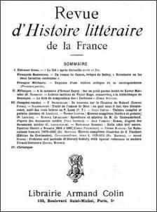 Couverture. É. Carcassonne : La Chine dans l'Esprit des lois. Revue d'histoire littéraire de la France, avril-juin 1924, pages 193-205.
