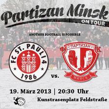 partizan minsk on tour - freundschaftsspiel gegen fc st. pauliu 4. herren