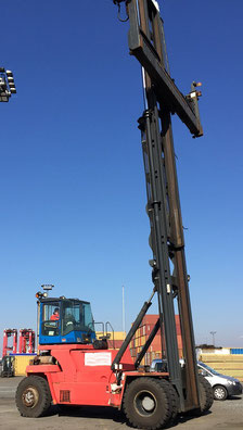 used container handler Kalmar in the port Bremerhaven