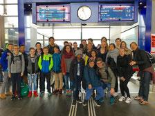 Die Jugendabteilung des LCB am Tag der Abreise
