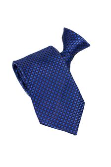 Een donkerblauwe blauwe en zijde stropdas met een rits.