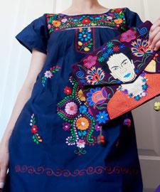 Mexikanische Tunika, Mexikanische Mode, Mexikanische KLeider, Sommerkleid aus MExiko, boho mexikanisches KLeid, mexikannische Bluse, Beach Kleid aus Mexiko, besticktes Kleid, buntes Sommerkleid, Tunika mit Stickerei