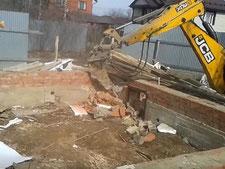 Демонтаж ленточных фундаментов