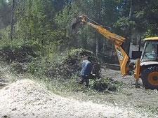 Расчистка участков под строительство