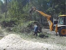 Расчистка участка под строительство в области