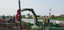 строительство дабм и плотин с помощью земснаряда