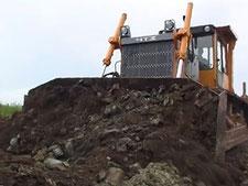 Разработка грунта бульдозерами