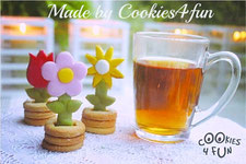 baking 3D cookies, tea time