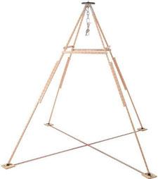 Holzgestell Pedale Pyramide