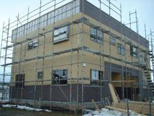 2世代住宅新築建築の様子