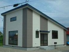 福島県河東町建築の様子