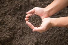 黒土や畑の土の写真