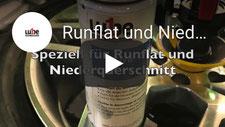 Video Runflat und Niederquerschnitt Reifenfett Spray