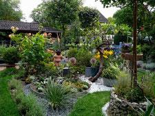 Blick in den Kies-Garten