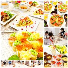 料理教室エムズレッスンの講師山岡真千子主催によるレッスン例