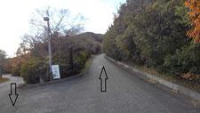 往路400m付近 登り坂
