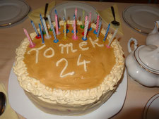 Tort toffi z masą śmietanowo kajmakową.